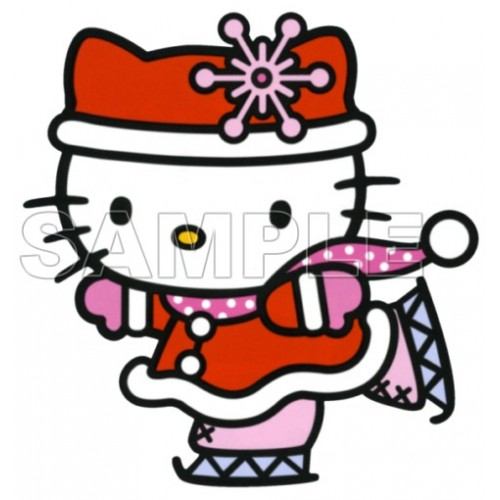 Hello Kitty Christmas T Shirt Iron on Transfer Decal #27 by www.shopironons.com