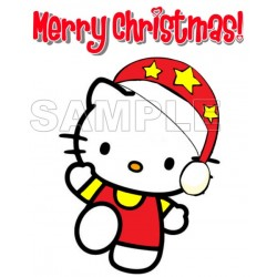 Hello Kitty Christmas T Shirt Iron on Transfer Decal #31