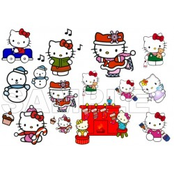 Hello Kitty Christmas T Shirt Iron on Transfer Decal #9