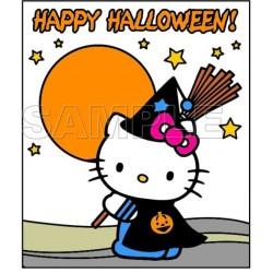 Hello Kitty Halloween T Shirt Iron on Transfer Decal #1