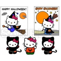 Hello Kitty Halloween T Shirt Iron on Transfer Decal #11