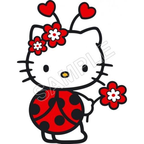 Hello Kitty LadyBug T Shirt Iron on Transfer Decal #50 by www.shopironons.com