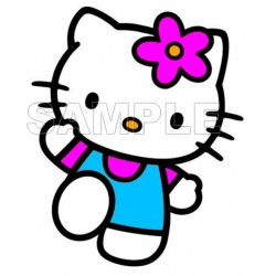Hello Kitty T Shirt Iron on Transfer Decal #15