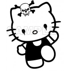 Hello Kitty T Shirt Iron on Transfer Decal #25