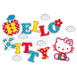 Hello Kitty T Shirt Iron on Transfer Decal #34