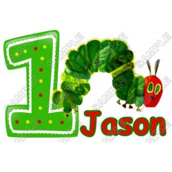 Hungry Caterpillar Birthday Personalized Custom T Shirt Iron on Transfer Decal #14
