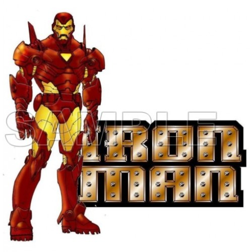Iron Man T Shirt Iron on Transfer Decal #3 by www.shopironons.com