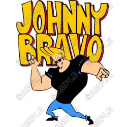 Johnny Bravo T Shirt Iron on Transfer Decal #1