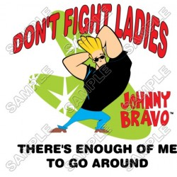 Johnny Bravo T Shirt Iron on Transfer Decal #2