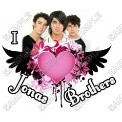 Jonas Brothers T Shirt Iron on Transfer Decal #1