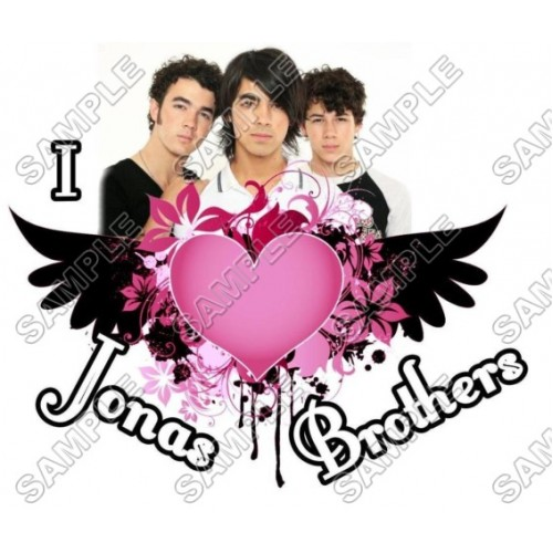 Jonas Brothers T Shirt Iron on Transfer Decal #1 by www.shopironons.com