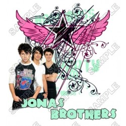 Jonas Brothers T Shirt Iron on Transfer Decal #3