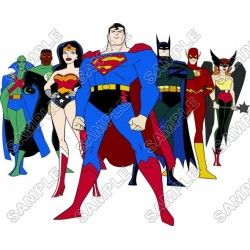Justice League Super Heroes T Shirt Iron on Transfer Decal #1