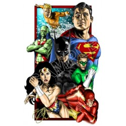 Justice League Super Heroes T Shirt Iron on Transfer Decal #6