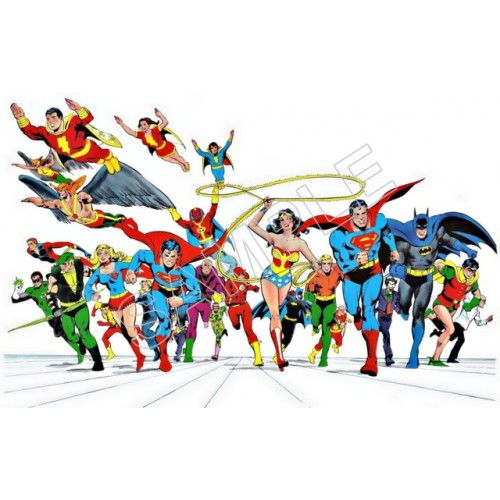 Justice League Super Heroes T Shirt Iron on Transfer Decal #97 by www.shopironons.com