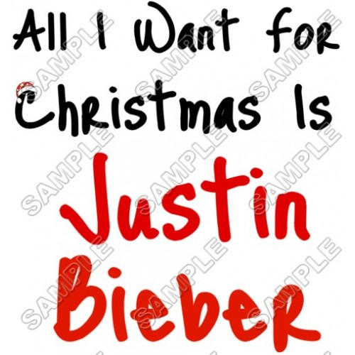 Justin Bieber Christmas T Shirt Iron on Transfer Decal #15 by www.shopironons.com