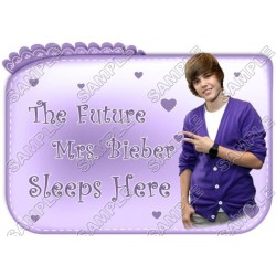 Justin Bieber Pillowcase Iron on Transfer Decal #1