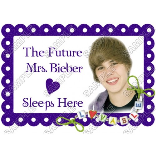 Justin Bieber Pillowcase Iron on Transfer Decal #17 by www.shopironons.com