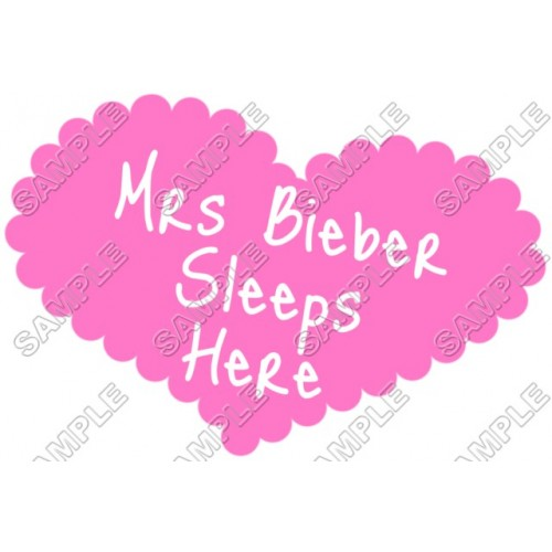 Justin Bieber Pillowcase Iron on Transfer Decal #18 by www.shopironons.com
