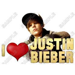 Justin Bieber T Shirt Iron on Transfer Decal #11