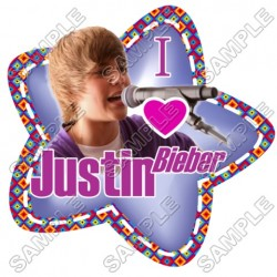 Justin Bieber T Shirt Iron on Transfer Decal #20