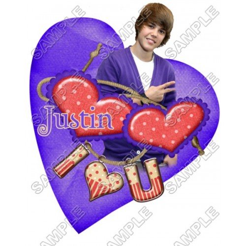 Justin Bieber T Shirt Iron on Transfer Decal #21 by www.shopironons.com