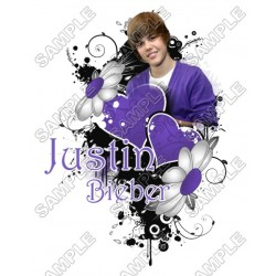 Justin Bieber T Shirt Iron on Transfer Decal #4