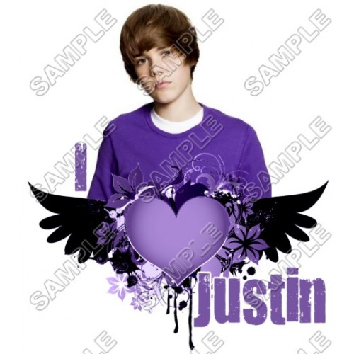 Justin Bieber T Shirt Iron on Transfer Decal #6 by www.shopironons.com