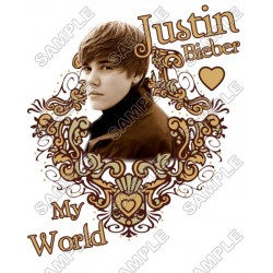 Justin Bieber T Shirt Iron on Transfer Decal #8
