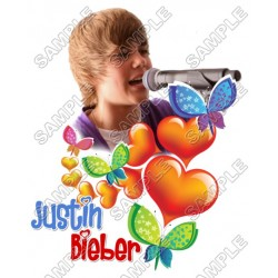 Justin Bieber T Shirt Iron on Transfer Decal #9