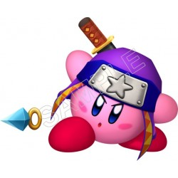 Kirby Ninja T Shirt Iron on Transfer Decal #10