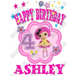 Lalaloopsy Birthday Personalized Custom T Shirt Iron on Transfer Decal #2