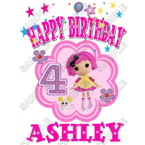 Lalaloopsy Birthday Personalized Custom T Shirt Iron on Transfer Decal #2 by www.shopironons.com