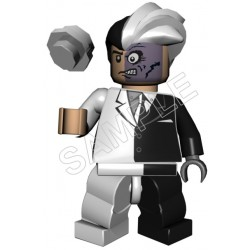 Lego Game Two-Face T Shirt Iron on Transfer Decal #4