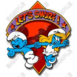 Let's Smurf T Shirt Iron on Transfer Decal #23