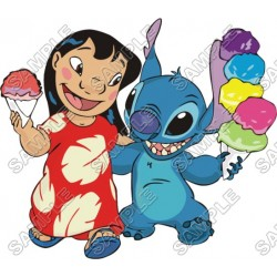 Lilo & Stitch T Shirt Iron on Transfer Decal #11
