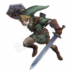 Link (The Legend of Zelda) T Shirt Iron on Transfer Decal #4
