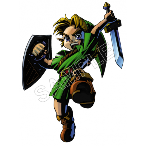 Link (The Legend of Zelda) T Shirt Iron on Transfer Decal #6 by www.shopironons.com