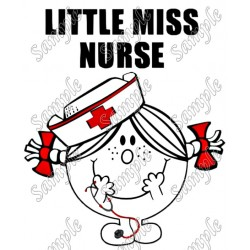 LIttle Miss Nurse T Shirt Iron on Transfer Decal #1