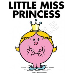 Little Miss Princess T Shirt Iron on Transfer Decal #68