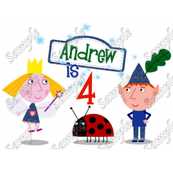 Ben & Holly's Little Kingdom Birthday Personalized Custom T Shirt Iron on Transfer Decal #1