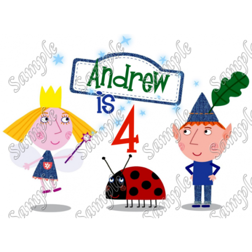 Ben & Holly s Little Kingdom Birthday Personalized Custom T Shirt Iron on Transfer Decal #1 by www.shopironons.com