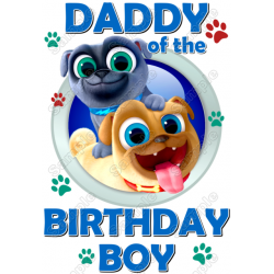 Bingo and Rolly of Puppy Dog Pals Birthday Personalized Custom T Shirt Iron on Transfer Decal #1