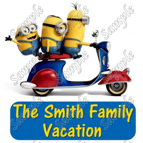 Despicable Me Minions Family Vacation Personalized Iron on Transfer #1 by www.shopironons.com