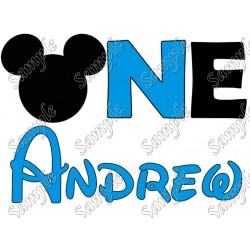 Disney Birthday Personalized Mickey Mouse for boy Iron on Transfer Decal #1