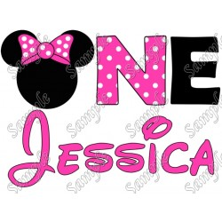 Disney Birthday Personalized Mickey Mouse for Girl Iron on Transfer Decal #2
