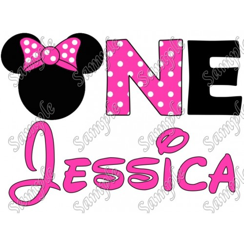 Disney Birthday Personalized Mickey Mouse for Girl Iron on Transfer Decal #2 by www.shopironons.com