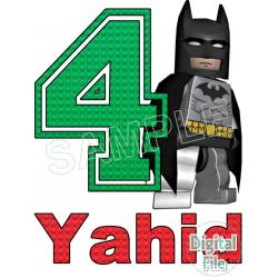 Lego Batman Custom Personalized Digital Iron on Transfer (DIGITAL FILE ONLY!)