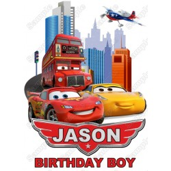 Pixar cars Birthday Personalized Custom T Shirt Iron on Transfer Decal #1