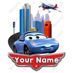 Pixar cars SALLY Birthday Personalized Custom T Shirt Iron on Transfer Decal #7